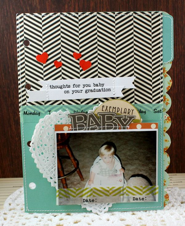 Thoughts for You Baby On Your Graduation Album (this album has the story Oh! The Places You'll Go typed on each page, letter from Mom and Dad) - October AfternoonMini Albums, Grad Gift, Graduation Minis, Cards Layout, Graduation Album, Cards Scrap, Places Album, Danny Reid, Album Danny