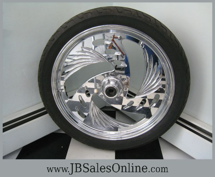 """Will be listing soon at JBSalesOnline.com dozens and dozens of new and used Harley Davidson parts for Knuckleheads to Evos including jugs, heads, oil coolers, chrome covers, speedos, etc, etc. To get things literally rolling, we have for sale one 19"""" billet wheel with tire. First $350.00 will be styling this spring (http://jbsalesonline.com/product/billet-aluminum-front-wheel-with-tire/.)"""