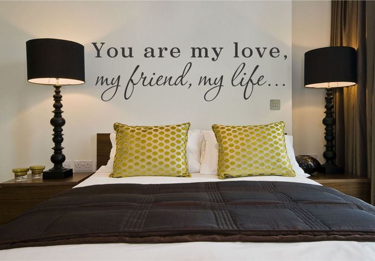 You are My Love, My Friend, My Life Quote Love Quote Vinyl Wall Decal Sticker