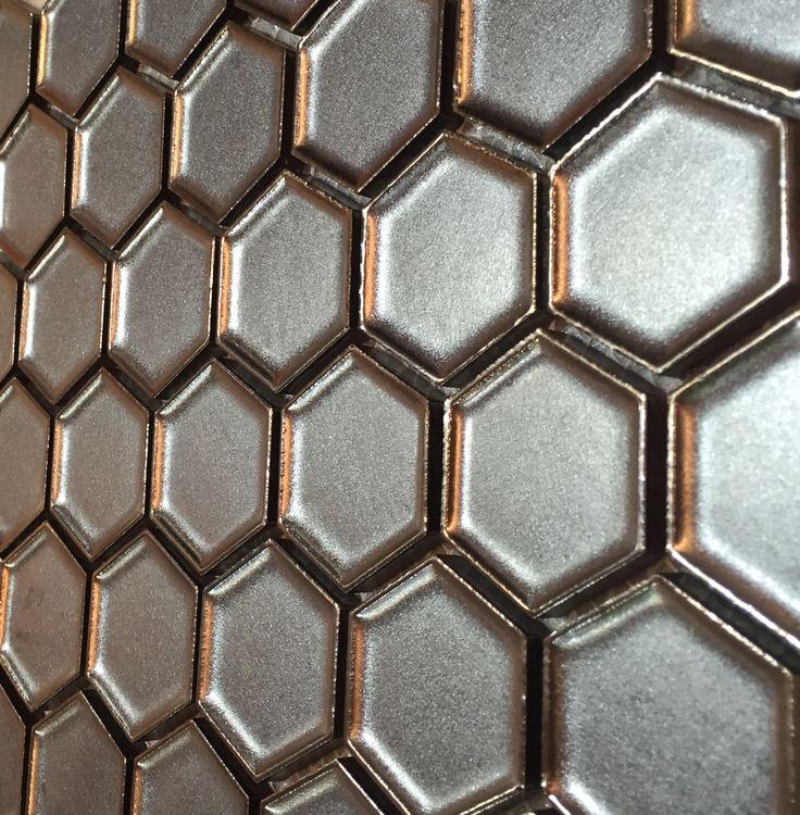 11995 art hexagonal burnt bronze