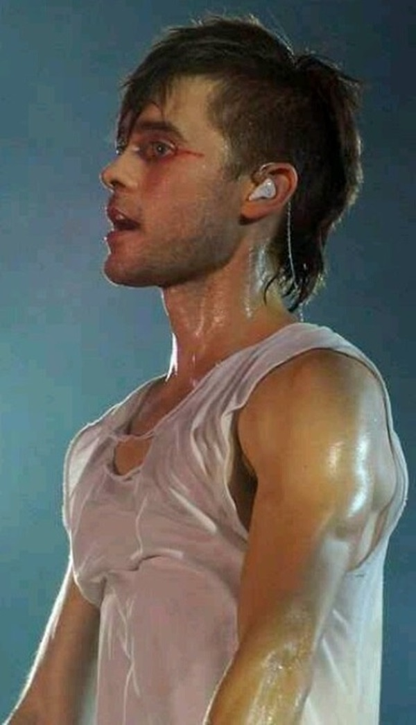 Drenched Jared = a cold shower