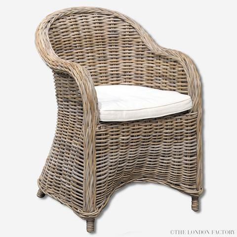 Valencia Rattan Dining Chair   Seagrass   Wicker Dining Chair   Outdoor   The…
