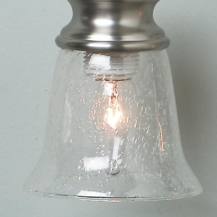 5 Clear Seeded Bath Pendant Glass Shade Lighting And Hardware Pinte