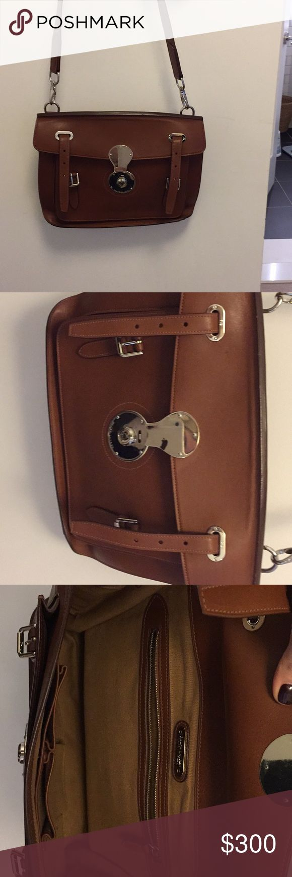 Ralph Lauren leather cross body satchel Like new condition with signature Ricky lock details Ralph Lauren Bags
