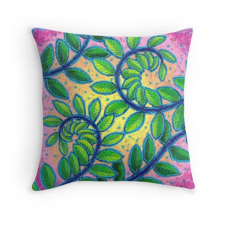 Twirly throw cushion by Dorothy Siemens