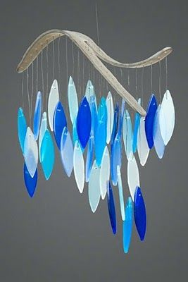 wind chimes - can DIY this out of  stained glass supplies.  Most of us don't have extra glass but it could be done with other things.