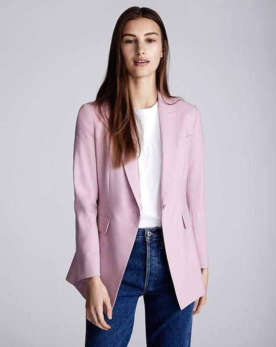 57c02c040a Good Wool Long Blazer, maybe in Navy | Theory | Duds | Women, Suits ...