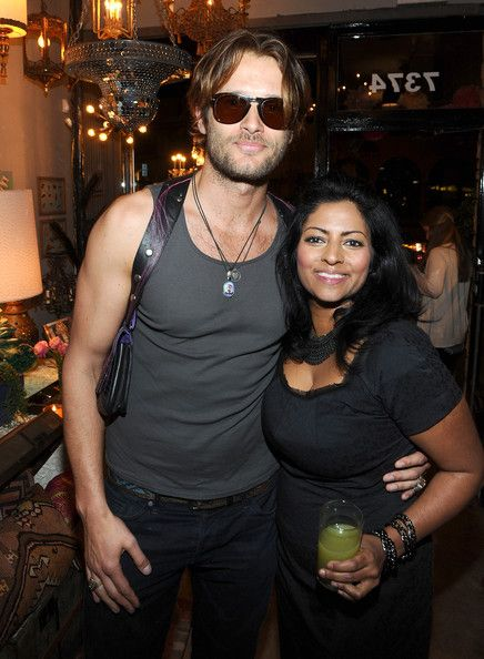 """Johan Urb Photos - Johan Urb (L) and designer Kishani Perera attend the Launch Party for Kishani Perera's new book, """"Vintage Remix"""" at Rummage on April 18, 2012 in Los Angeles, California. - Molly Simms Hosts The Launch Party For Kishani Perera's New Book """"Vintage Remix"""""""