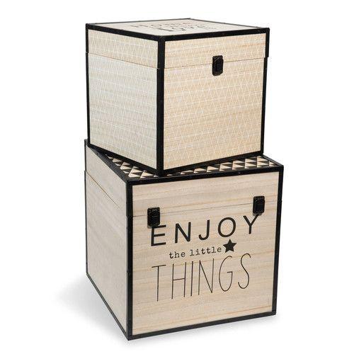 2 houten GRAPHIQUE koffers