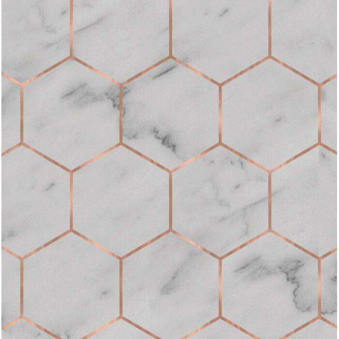 Hexagon 24 L X 25 W Peel And Stick Wallpaper Roll Hexagon Wallpaper Geometric Wallpaper Wallpaper Roll