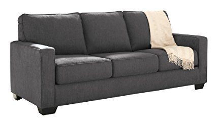 """Ashley Zeb 3590139 82"""" Queen Size Pull-Out Sofa Sleeper with Memory Foam Mattress Track Arms and Loose Seat Cushions in"""