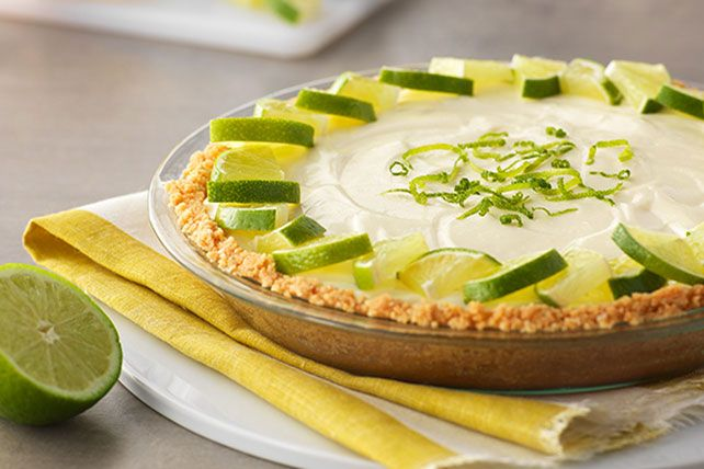 No tequila required for this margarita! This easy cheesecake pie gets its sweet-tart deliciousness from sweetened condensed milk and fresh lemon juice.