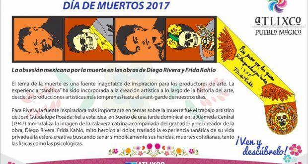 Inauguran Tapete Monumental conmemorativo al Día de Muertos – Metepec Atlixco Puebla