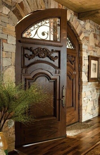 Tuscan Doors Home Entry Designs Pinterest Home