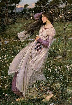 John William Waterhouse (1849 - 1917). Windflowers 1902