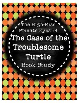 This product is a book study that corresponds with Cynthia Rylant's mystery book Case of the Troublesome Turtle from The High-Rise Private Eyes series. There are 4-5 comprehension questions for each chapter, along with vocabulary practice. A planning page is included so students can keep track of the mystery, suspects, clues, the victim, and how the case was solved.