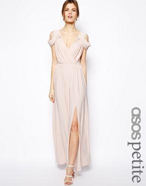 ASOS PETITE Wrap Front Maxi Dress