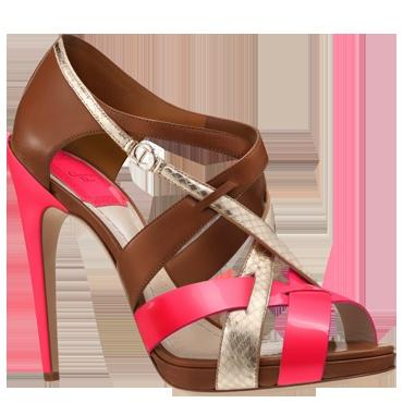 Dior sandale fluo