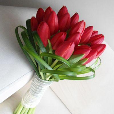 ramos naturales para boda de tulipanes