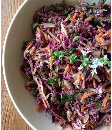 Best Ever Raw Vegan Coleslaw by RawFoodforLife.org