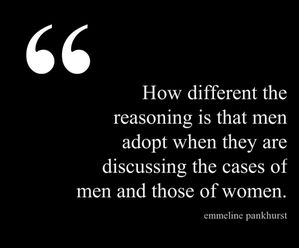 different reasoning Emmeline Pankhurst