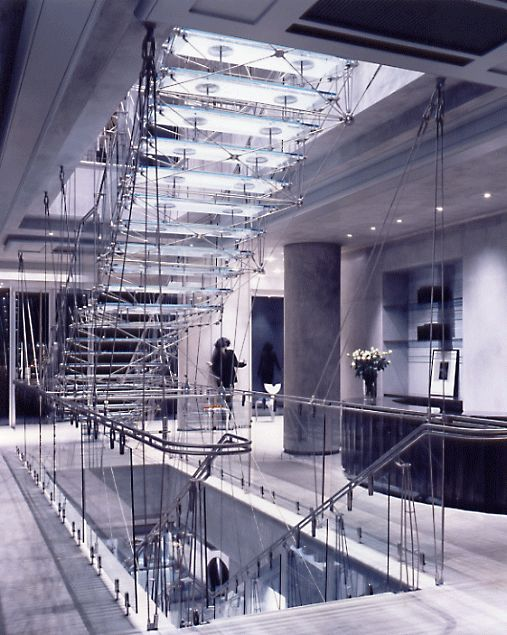 Joseph shop stair, Sloane Street by Eva Jiricna.