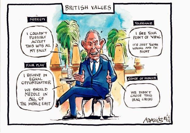 Tony Blair and British Values. Merging the crisis in English schools and ISIS conflict.