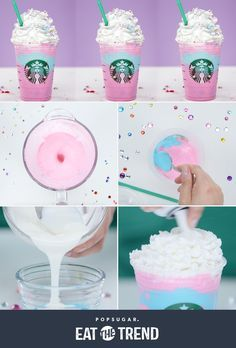 Make your own Starbucks Unicorn Frappuccino!
