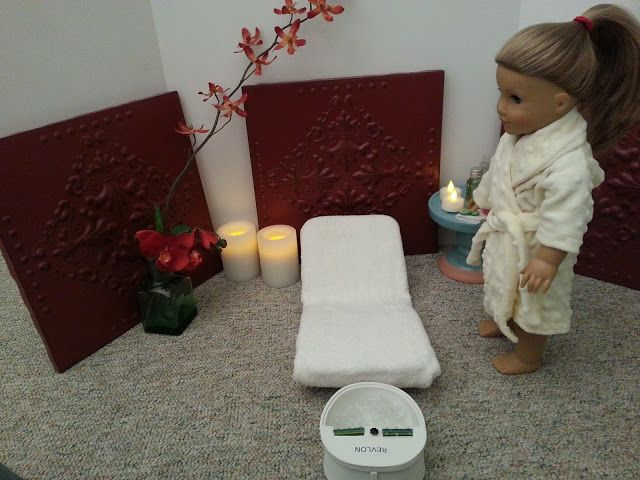 American Girl Doll Crafts and Fun!: How to Make a Doll Spa - all the details