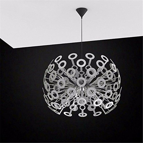 Quietness  Loft Nordic Contemporary Designer Creative Personality Lamps Pendant Lamp for Kids Bedroom Dinning Room Living Room Warehouse Iron Chandeliers Diameter55Cm ** You can get more details by clicking on the image. (Note:Amazon affiliate link)