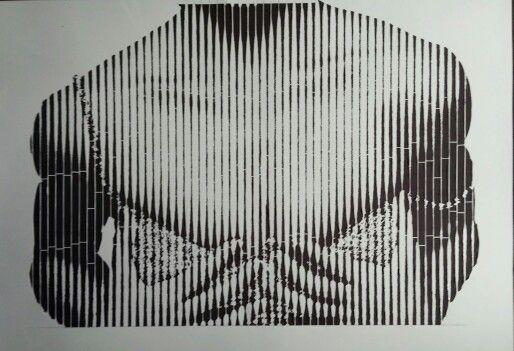 Madonna 2/2 part of stencil