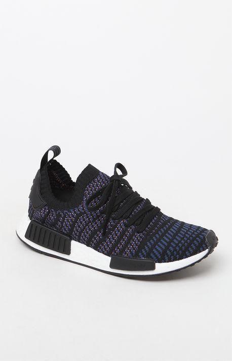 a1cc9af9641ee Women s Black Multi NMD R1 STLT Primeknit Sneakers Latest Adidas Sneakers