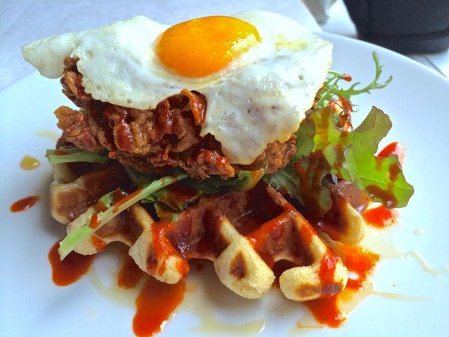 Charlottesville- Brookville Restaurant- Chicken and Waffles