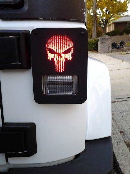 """Punish em"" Jeep Wrangler Jk model tail light guards. 2pc set includes free shipping!"