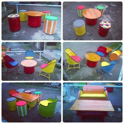 Galeri Umah Tong: Beautiful Furniture Made Out of Old Oil Drums!