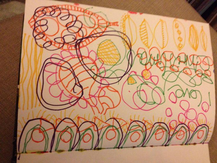 Sylvia Marris, Art journal beginning