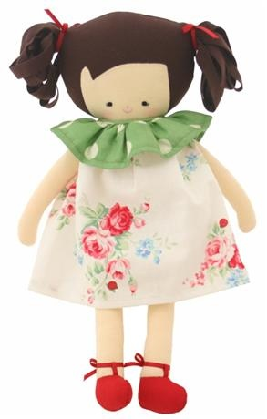 Alimrose Designs Mary Doll        Price: $AU 40.95   Description:      Beautiful Alimrose Deisgns Mary doll looks oh so adorable in her white floral print dress!      http://www.littlebooteek.com.au/Gift-Ideas/64/catlist.aspx