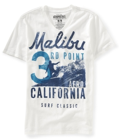 Malibu 3rd Point V-Neck Graphic T