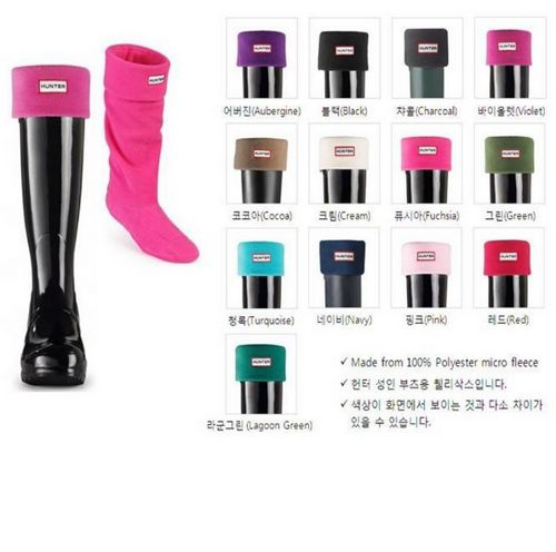 WORLDWIDE FREE SHIPPING   Hunter Wellington Rain Boots Fleece Socks   Please leave me a message what color and size need you.   Colors:  Black Red White Royal Blue Navy Pink Rose Purple Brown Grey   S