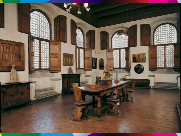 FLORENCE - HORNE MUSEUM. It is less a museum of the city, which reconstructs some quarters of a typical ancient Florentine, with many antiques, sculptures and especially a remarkable collection of paintings on wood of the fourteenth and fifteenth centuries.
