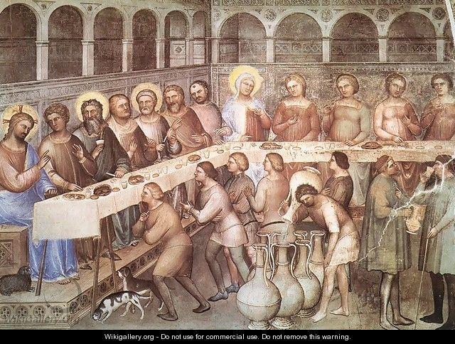 Marriage at Cana 1376-78 - Giusto di Giovanni de