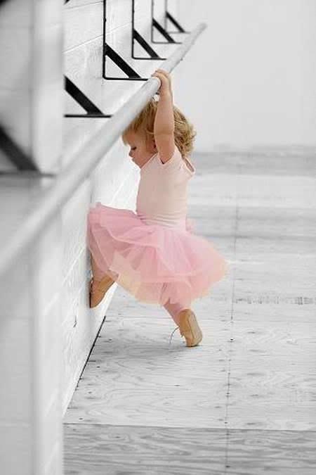 Precious...See, I can reach the bar! - tiny ballet dancer
