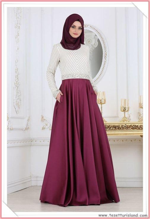 71da2e93d5890 Tesettürlü Abiye Elbise Modelleri 2018 & Hijab Lookbook Daha fazlası için  resime tıklayarak sitemizi ziyaret ediniz