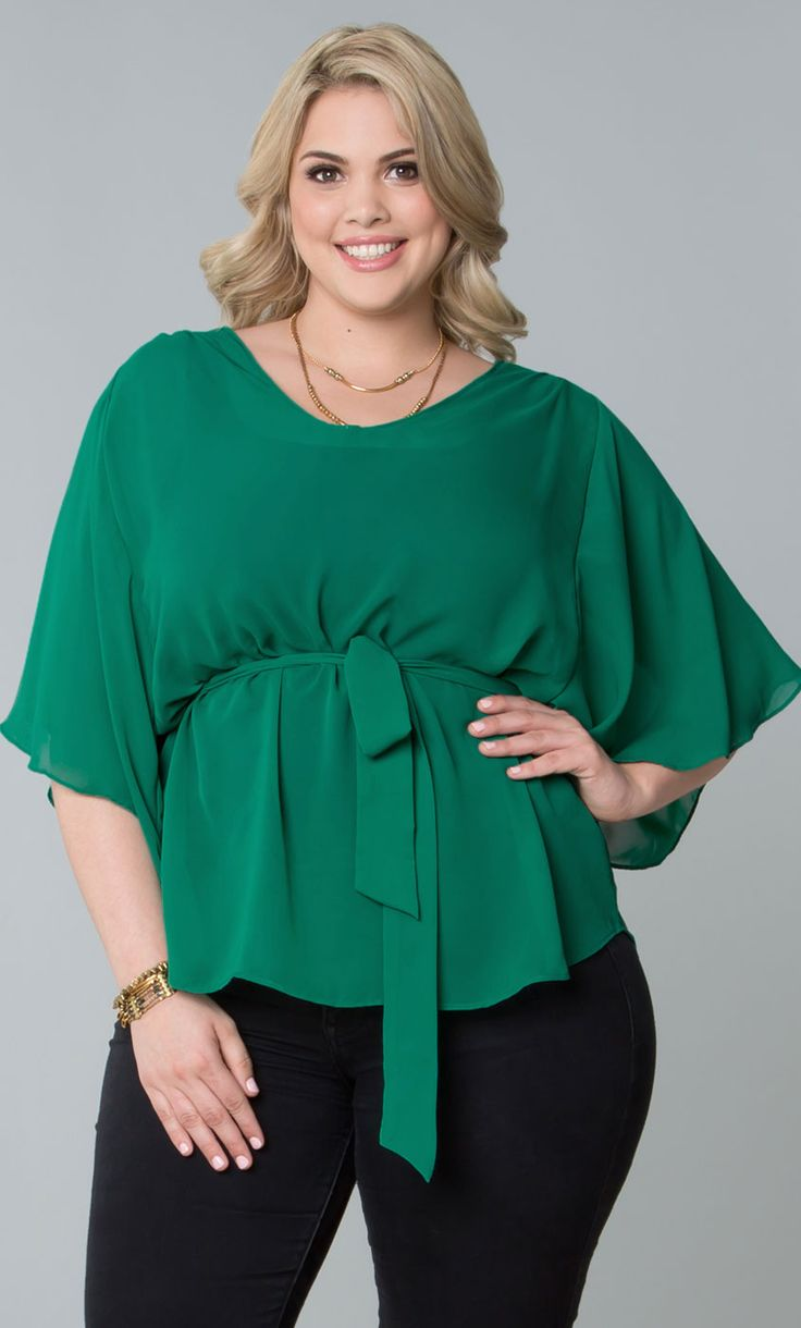 Be a stylish lucky charm in our plus size Chantal Chiffon Blouse.  ;)   www.kiyonna.com  #KiyonnaPlusYou  #Plussize  #MadeintheUSA  #Kiyonna  #OOTD
