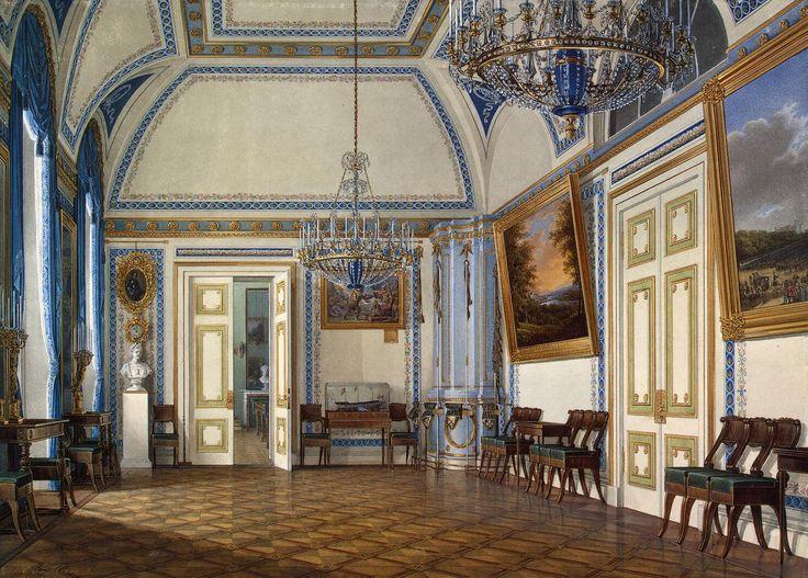 Interiores del palacio del invierno. La antecámara del Tsesarevich Alexander Nikolayevich