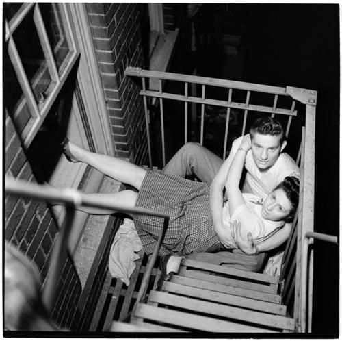 Young Couple on Fire Escape, 1948. Stanley Kubrick, Museum of the City