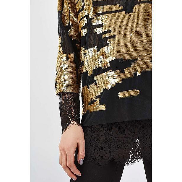 #top #pailletten #lace #detail #Topshop #Wehkamp #damesmode #fashionista