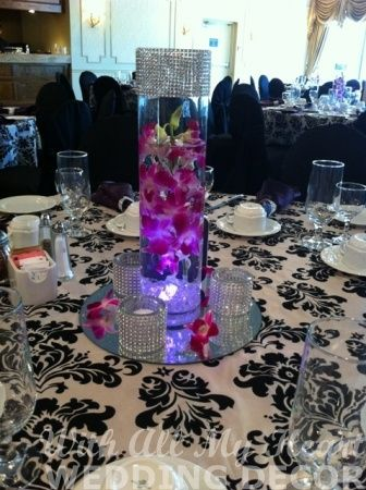 Orchid Centerpiece with LED