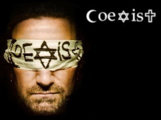 Coexist, have to start seing with new eyes and opened minds