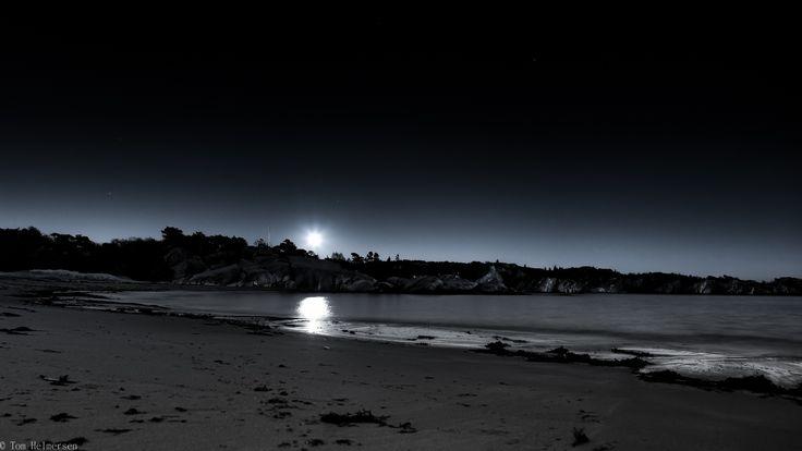 beach moon night. by Tom Helmersen on 500px